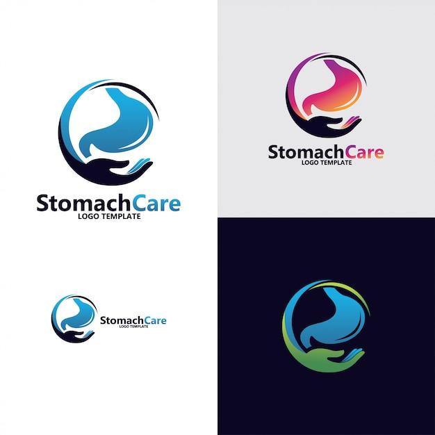 Stomach logo design Premium Vector