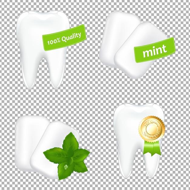 口腔用セットグラデーションメッシュ、イラスト Premiumベクター