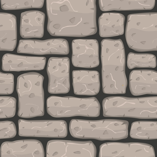 Stone wall with cartoon style