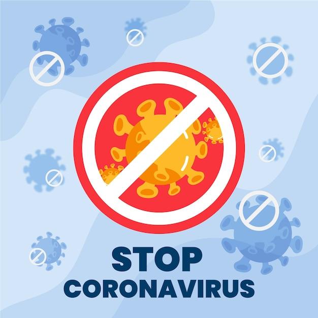 Остановить коронавирусную пандемию гриппа 19 Premium векторы