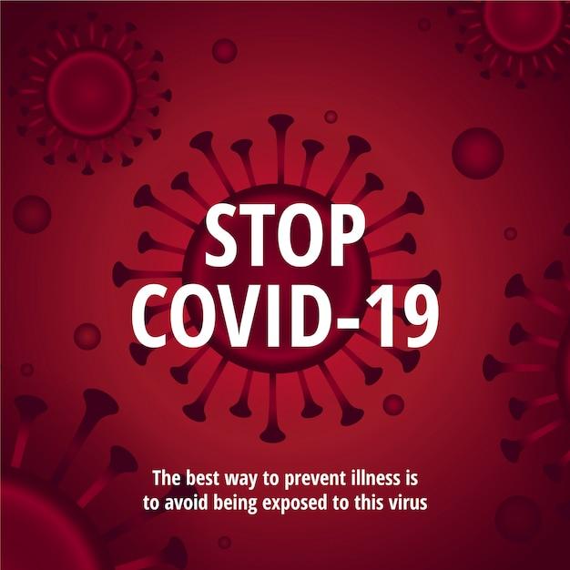 コロナウイルスのイラストを停止 無料ベクター