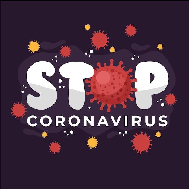 コロナウイルスを止める 無料ベクター