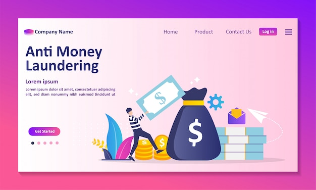 Stop corruption and illegal business landing page Premium Vector