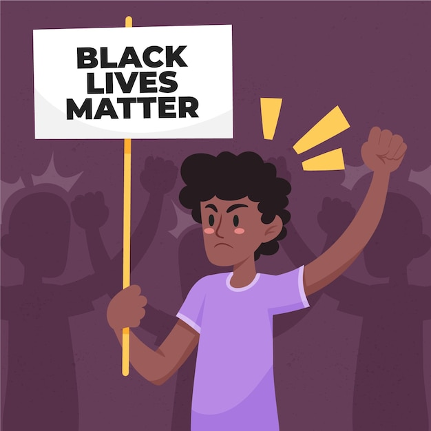 Stop racism and abusive behaviour Free Vector