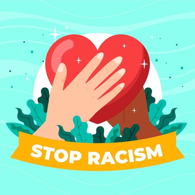 Stop racism concept Free Vector