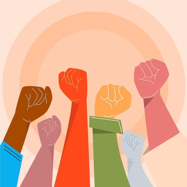 人種差別の概念を停止します。 無料ベクター