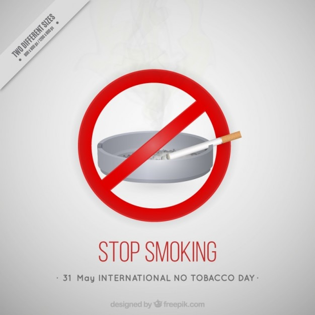 Stop smoking background Free Vector