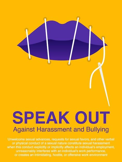 女性のコンセプトポスターに対する暴力を止める。 Premiumベクター