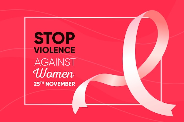 Stop violence against women Free Vector