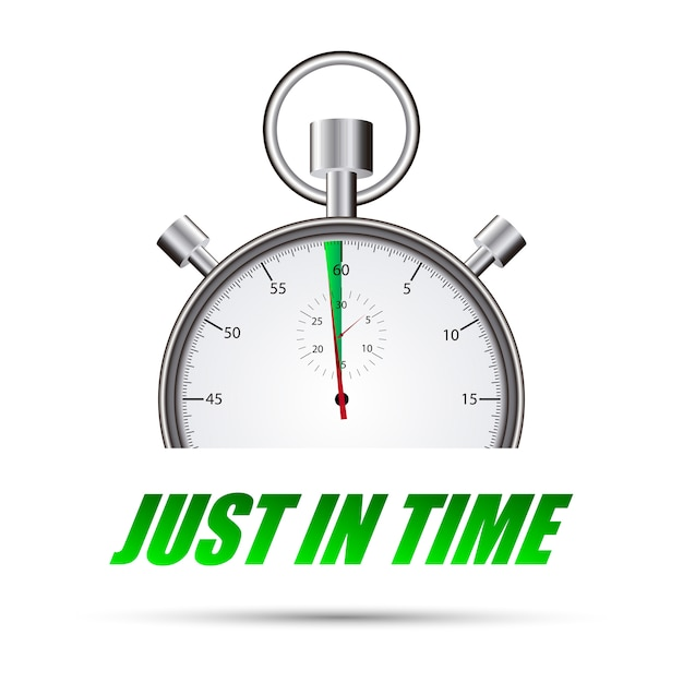 Stopwatch just in time Premium Vector