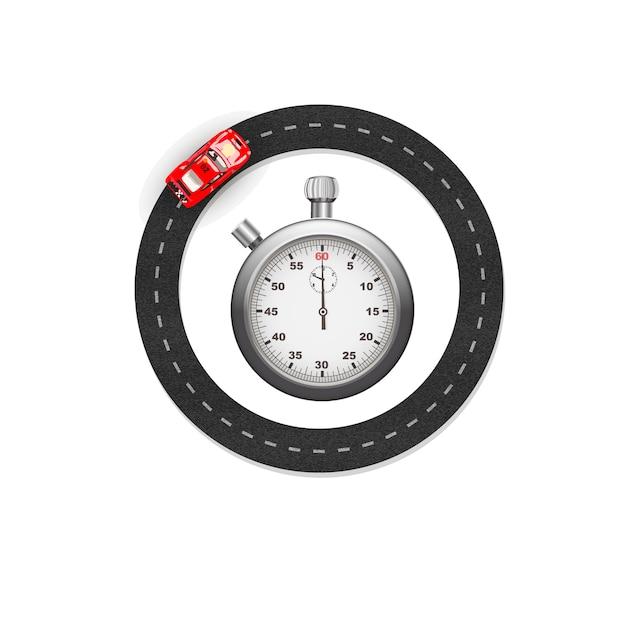 Stopwatch and race Premium Vector