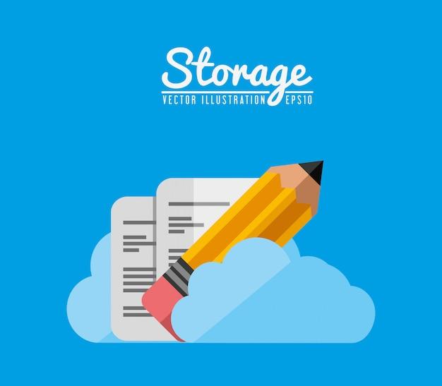 Storage center design Free Vector
