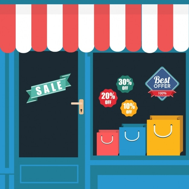 Store background design vector free download for Store layout design online