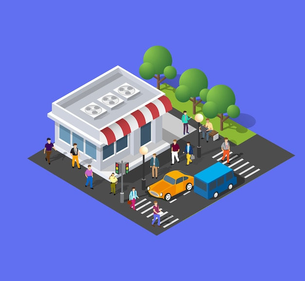 The store eatery grocery Premium Vector