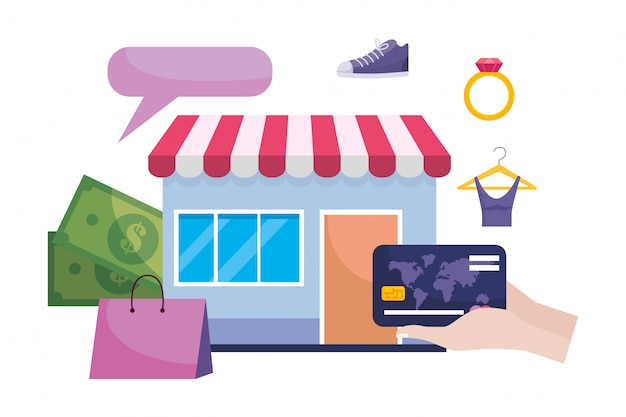 Store icon illustration Premium Vector