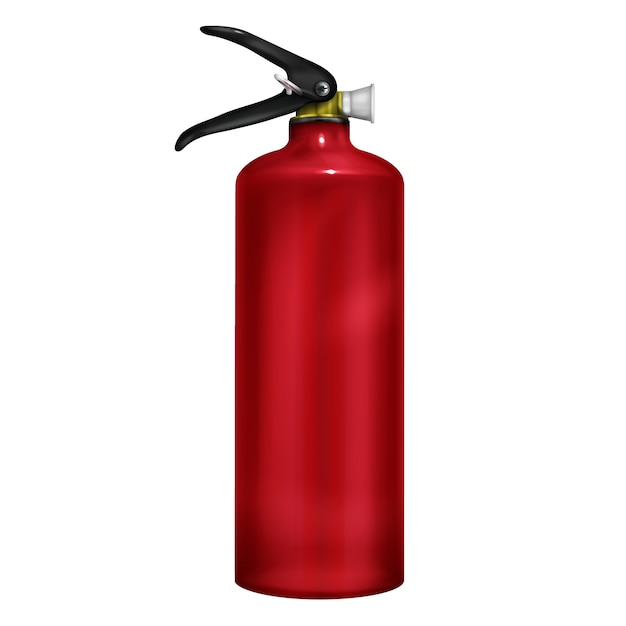 Stored-pressure, handheld fire extinguisher with red gallon Free Vector