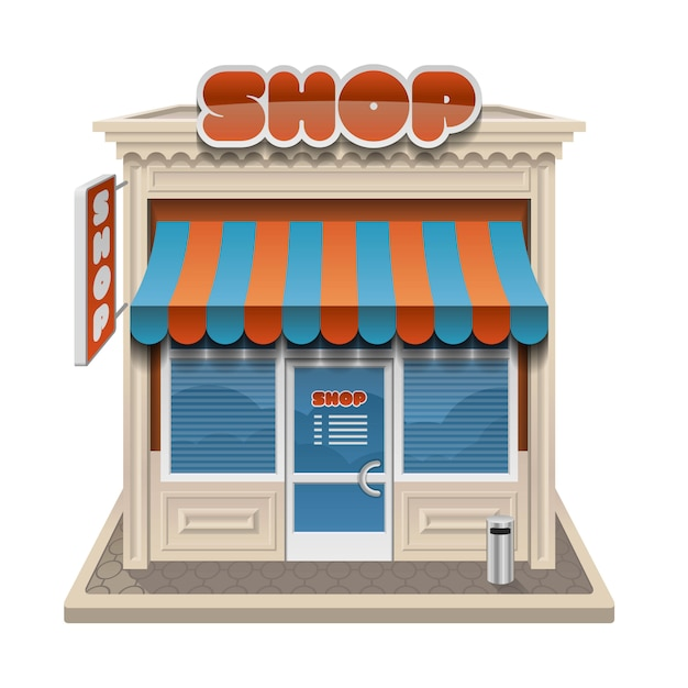 Storefront illustration isolated Premium Vector
