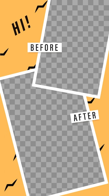 Stories template. before and after. streaming. photo frame ...