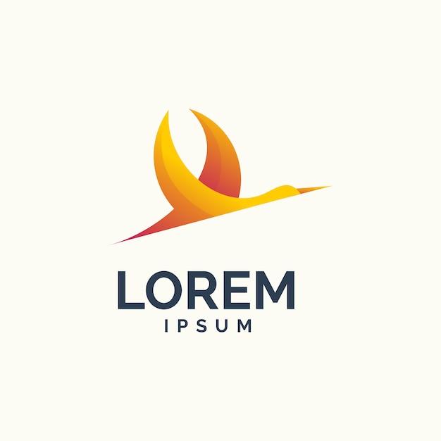 Stork modern logo Premium Vector