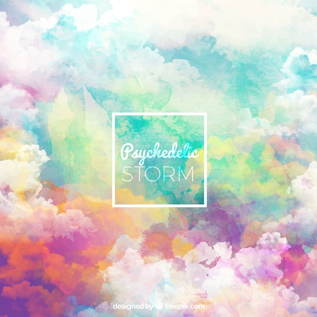Storm background with sky in different colors Free Vector