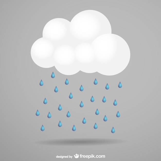 Storm cloud and rain Free Vector
