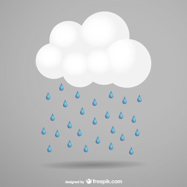 Storm cloud and rain Free Vector