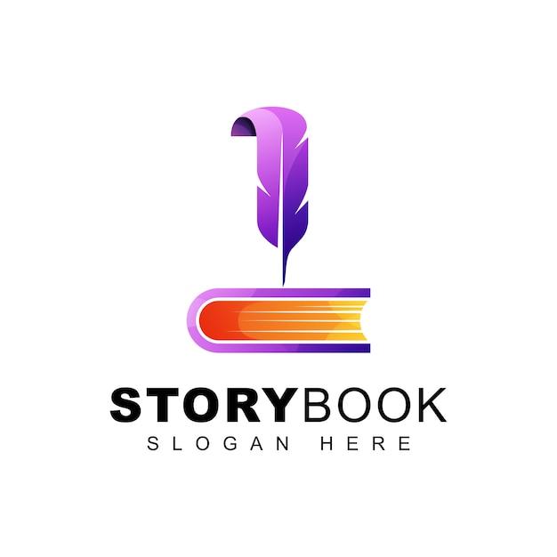 Story life book logo Premium Vector