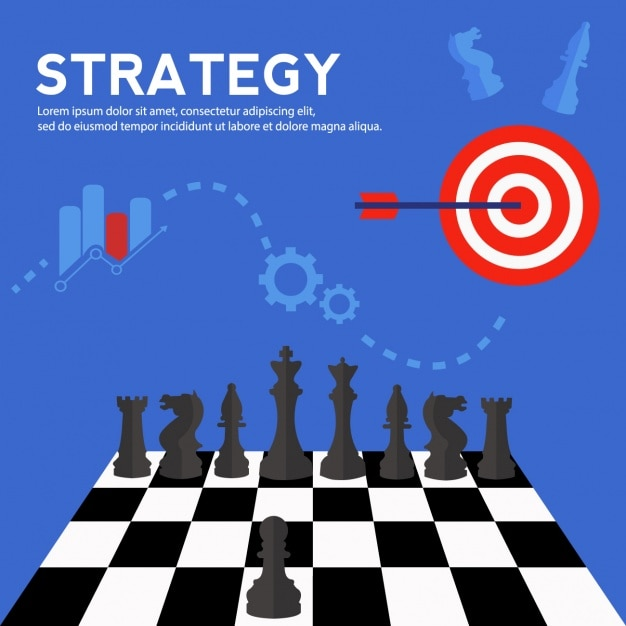 Strategy background design Free Vector