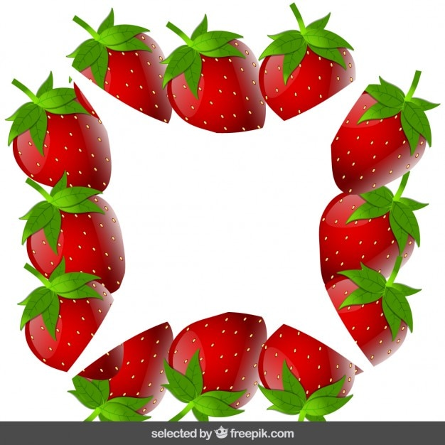 Strawberry frame Vector | Free Download