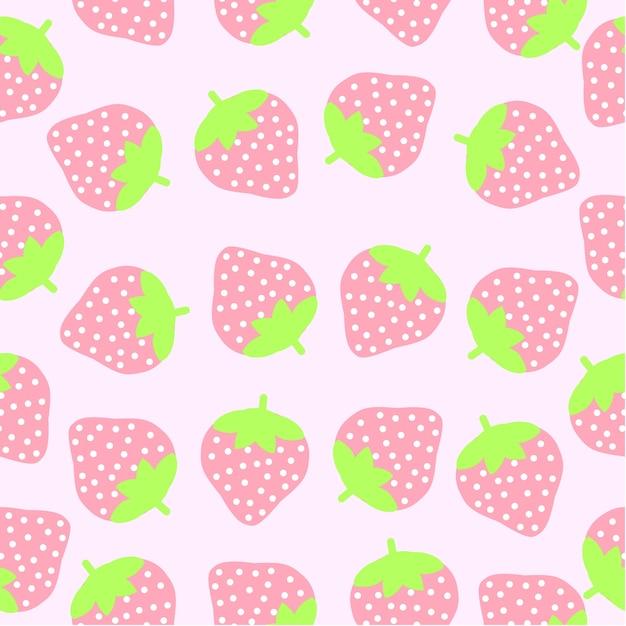 Strawberry Pattern Background Vector Free Download Stunning Strawberry Pattern