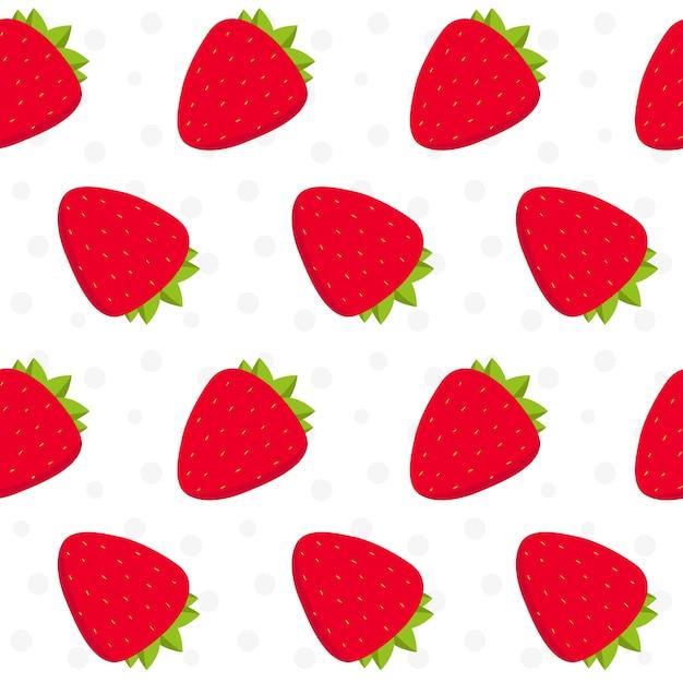 Strawberry Pattern Design Vector Free Download Unique Strawberry Pattern