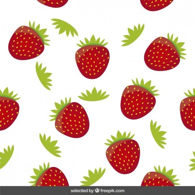 Strawberry Pattern Vector Free Download Inspiration Strawberry Pattern