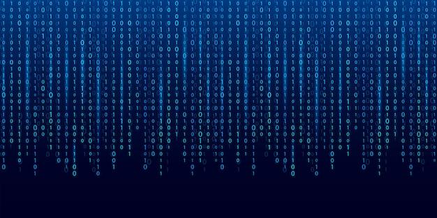 Stream of binary code. computer matrix background. Premium Vector
