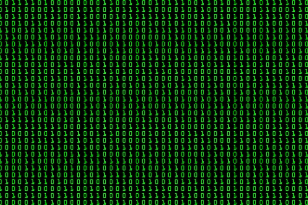 Streaming binary code background Premium Vector