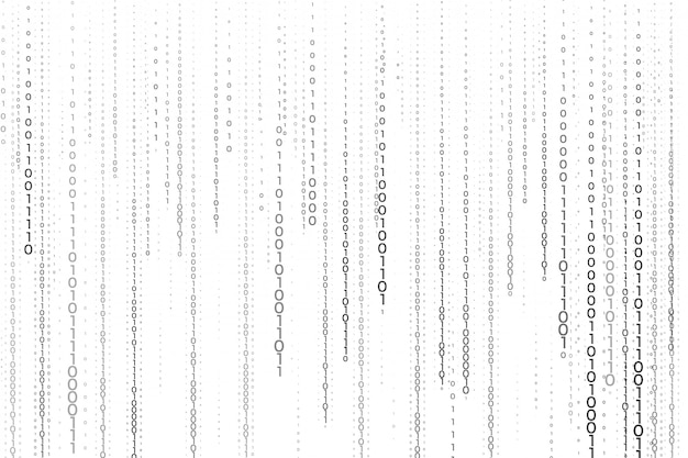 Streaming of binary code numbers technology background Free Vector