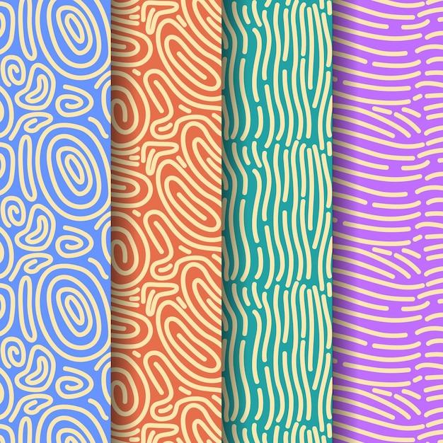 Flussi di modello di pattern di acqua Vettore gratuito