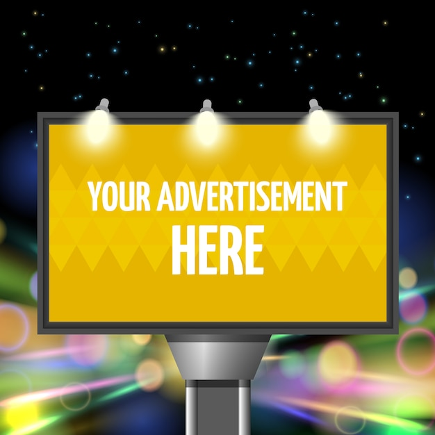 Street advertisement city Free Vector