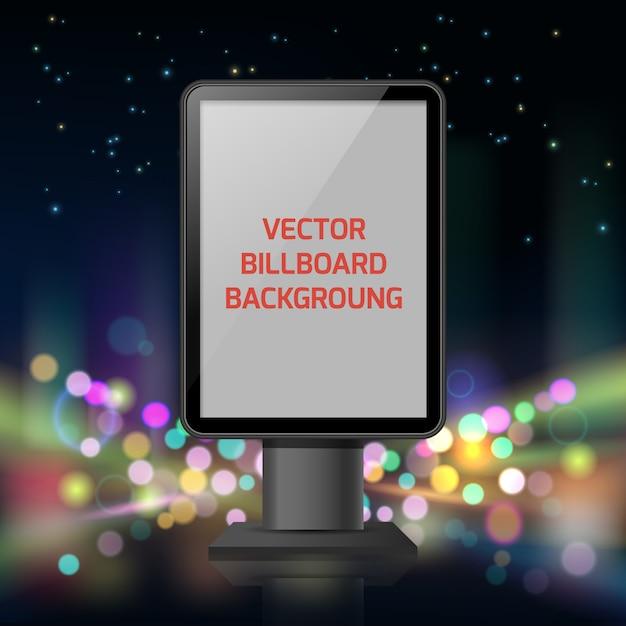 Street advertisement vertical banner Free Vector