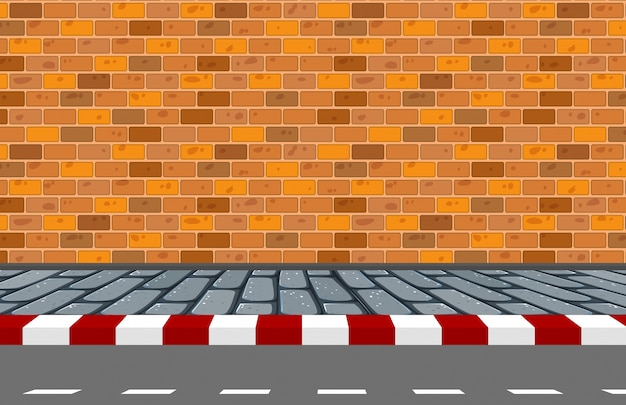 A street background scene Free Vector