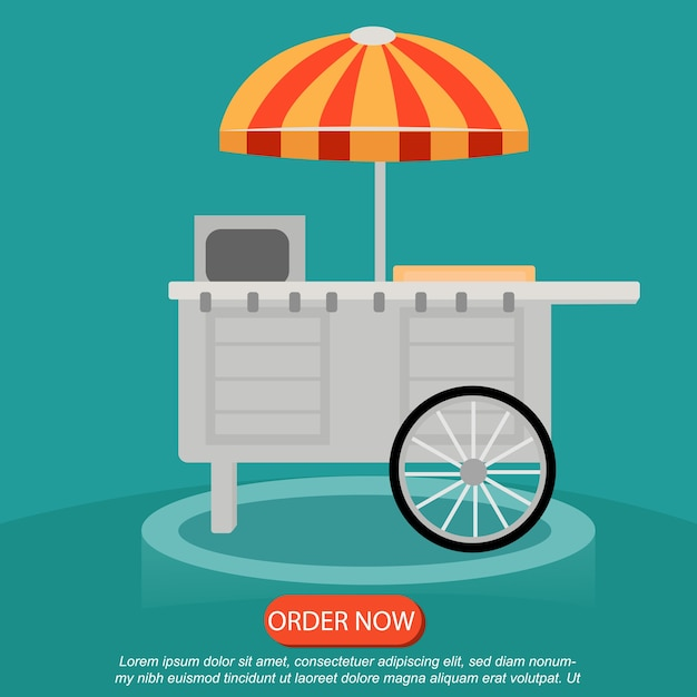 Street food icon creative design order now Vector | Premium Download