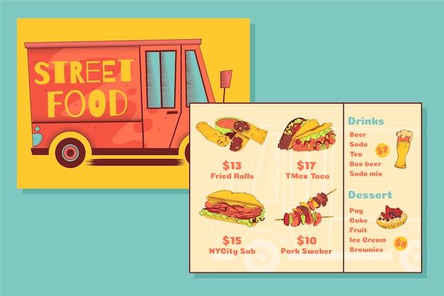 Street Food Menu Template Vector Free Download