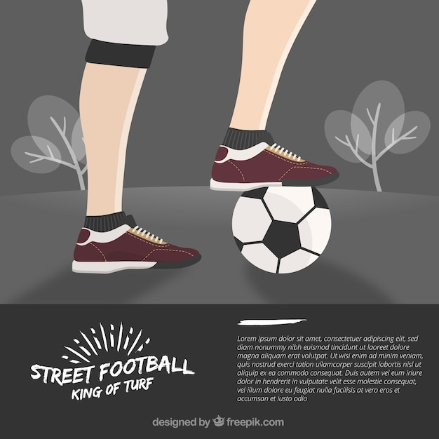 Street football background design