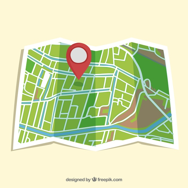 Street map isolated Free Vector