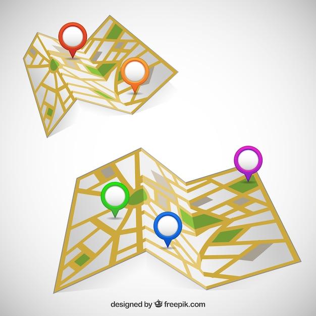 Street maps Free Vector