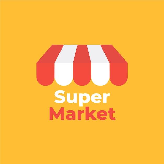 Street market business company logo Free Vector