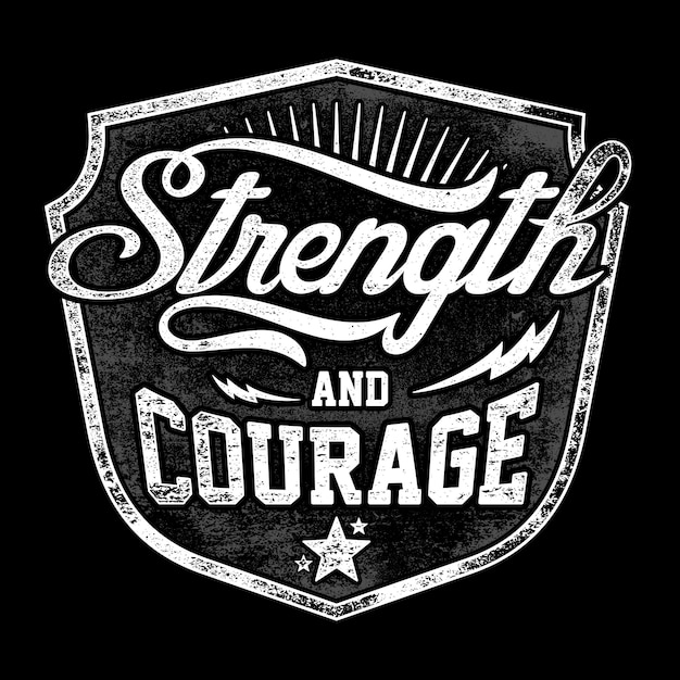 Strength and courage Premium Vector