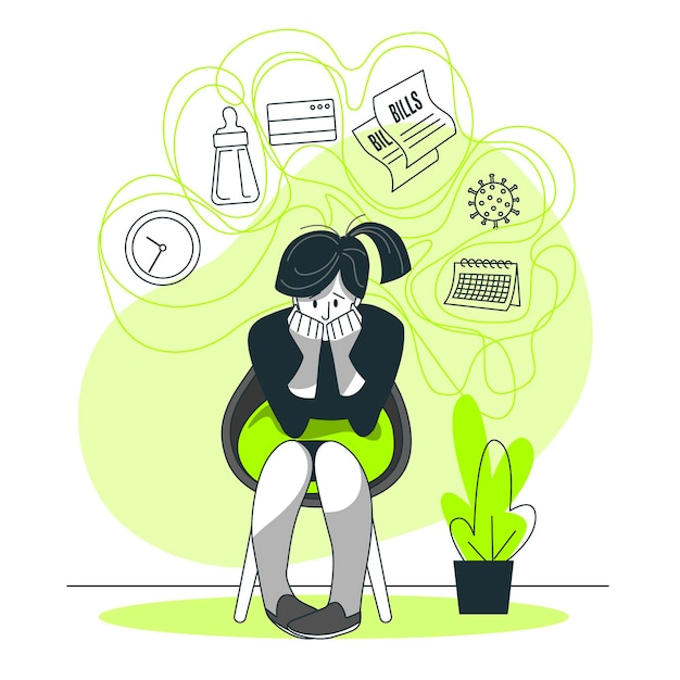 Stress concept illustration Free Vector