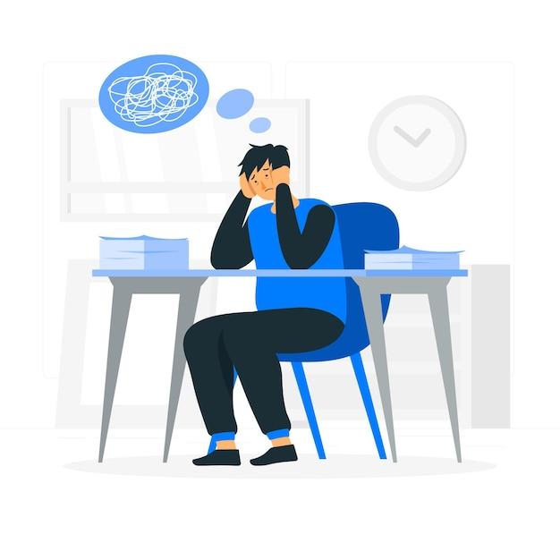 Иллюстрация концепции стресса Бесплатные векторы