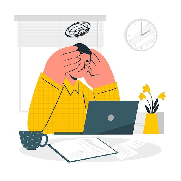 Stress concept illustration Free Vector