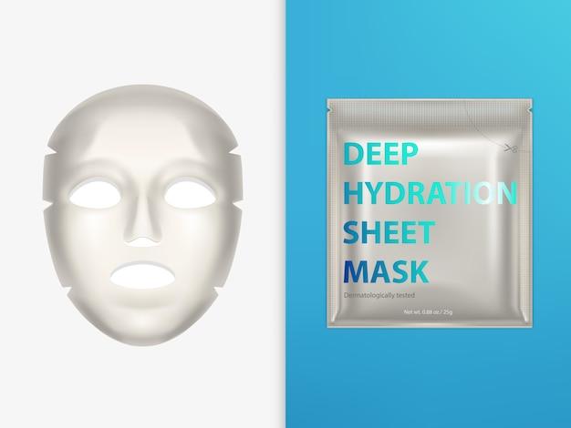 Maschera facciale elastica e busta di plastica sigillata Vettore gratuito